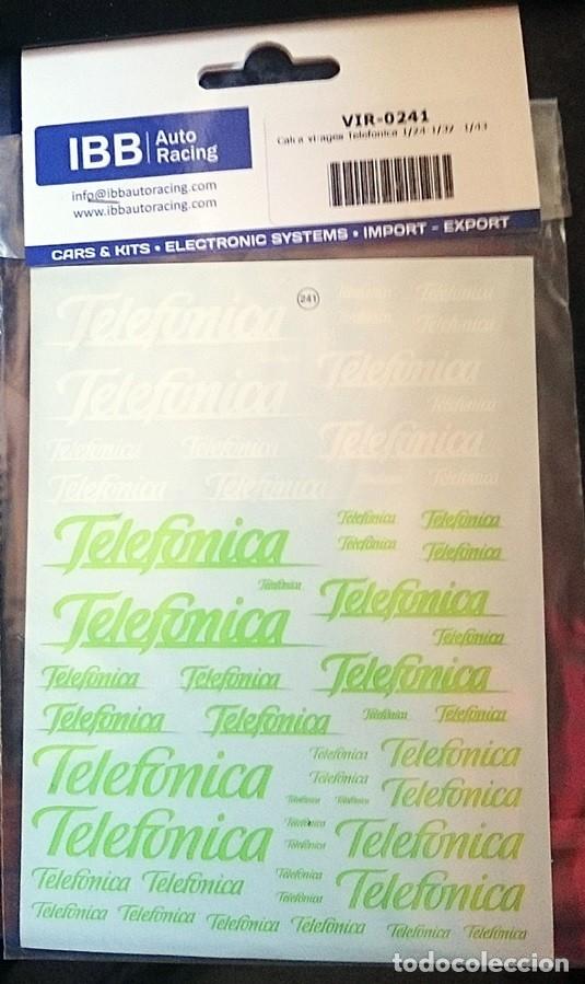 TRANSFERIBLES AL AGUA / NOMBRE TELEFONICA (Juguetes - Modelismo y Radiocontrol - Herramientas y Accesorios)