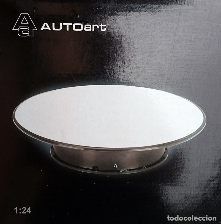 Hobbys: AUTO ART BASE ROTATORIA ESCALA 1/24 / PLATO COLOR PLATA EFECTO ESPEJO - Foto 1 - 94188435