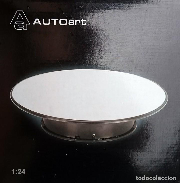 AUTO ART BASE ROTATORIA ESCALA 1/24 / PLATO COLOR PLATA EFECTO ESPEJO (Juguetes - Modelismo y Radiocontrol - Herramientas y Accesorios)