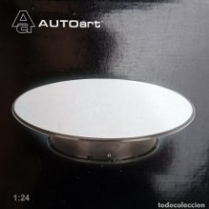 Hobbys: AUTO ART BASE ROTATORIA ESCALA 1/24 / PLATO COLOR PLATA EFECTO ESPEJO. Lote 94188435