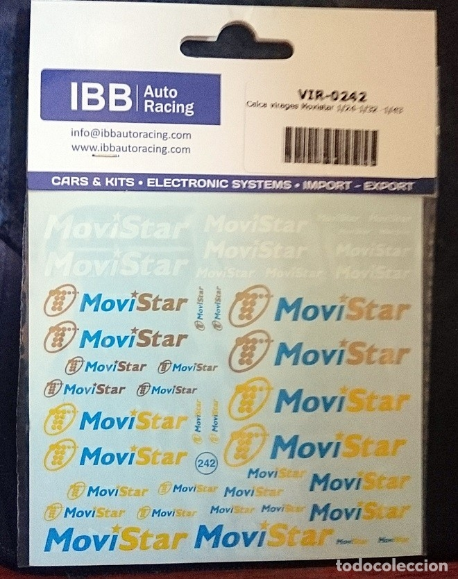 Hobbys: CALCA VIRAGES MOVISTAR 1/24-1/32 -1/43 - Foto 1 - 127637307