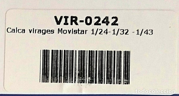 Hobbys: CALCA VIRAGES MOVISTAR 1/24-1/32 -1/43 - Foto 2 - 127637307