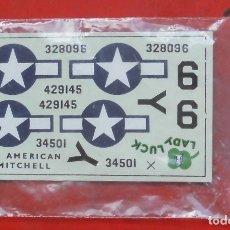 Hobbys: CALCAS DE AIRFIX PARA EL NORTH AMERICAN B-25. Lote 178721047