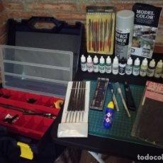 Hobbys: HERRAMIENTAS Y PINTURA ACRÍLICA PARA MAQUETAS MUY BUEN ESTADO . Lote 182741475