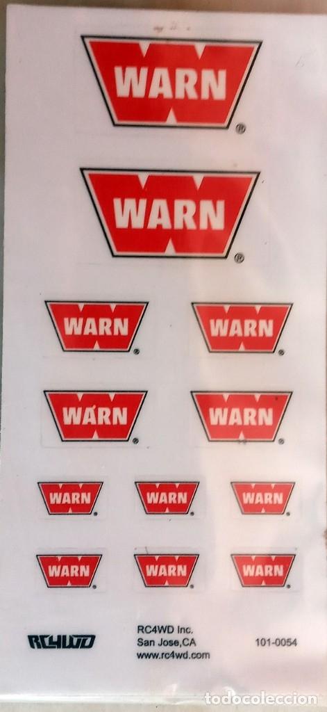 RC4WD WARN WINCH - PEGATINAS DE PLÁSTICO ESCALA 1/10 CRAWLER (Juguetes - Modelismo y Radiocontrol - Herramientas y Accesorios)