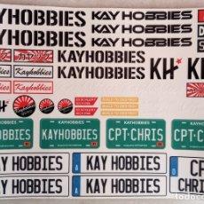 Hobbys: KAY HOBBIES - PEGATINAS DE PLÁSTICO ESCALA 1/10 CRAWLER. Lote 182760748