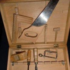 Hobbys: MALETA DE JUGUETE CON HERRAMIENTAS DE CARPINTERO GRAN REALISMO. Lote 193868078