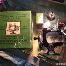 Hobbys: PRECIOSA MAQUINA DE COSER SINGER, JUGUETE DE FABRICACIÒN USA. Lote 195064280