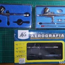 Hobbys: LOTE DE AEROGRAFÍA - AEROGRAFO AB-200 NUEVO Y AB-300 USADO. Lote 239604400