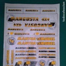 Hobbys: MANTUA MODEL - MANGUSTA 4 X 4 - ADHESIVOS - CALCAS - HOJA DE 35.8 X 25.2 CM.. Lote 209074992