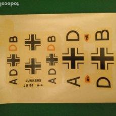 Hobbys: ADHESIVOS - CALCAS PARA AVION JUNKERS JU 88 A-4 - HOJA DE 30 X 20 CM.. Lote 209244036