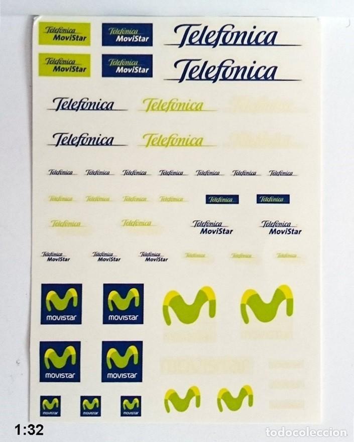 1/32 - CALCA AL AGUA TELEFÓNICA MOVISTAR - VÁLIDAS PARA MODELOS DE SLOT (Juguetes - Modelismo y Radiocontrol - Herramientas y Accesorios)