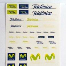 Hobbys: 1/32 - CALCA AL AGUA TELEFÓNICA MOVISTAR - VÁLIDAS PARA MODELOS DE SLOT. Lote 209965553