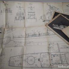 Hobbys: PLANOS CHASSEUR DE SOUS-MARINS CH. 123 DE 110 TONNES W. - 1942 ASSOCIATION DES AMIS DES MUSÉES. Lote 219551183