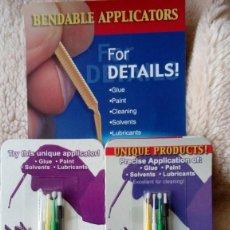 Hobbys: MODELISMO: MICRO PINCELES PARA APLICAR PINTURA, PEGAMENTO, DISOLVENTE, ETC. (2 X 4 UNIDADES). Lote 222991336