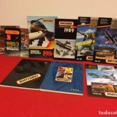 Hobbys: 9 CATÁLOGOS DE MATCHBOX, AÑOS 80 Y 90. Lote 236857765
