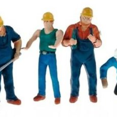 Hobbys: CONRAD SET OF 6 WORKERS FIGURES - COMPLEMENT FOR DIORAMA / RARE. Lote 245903510