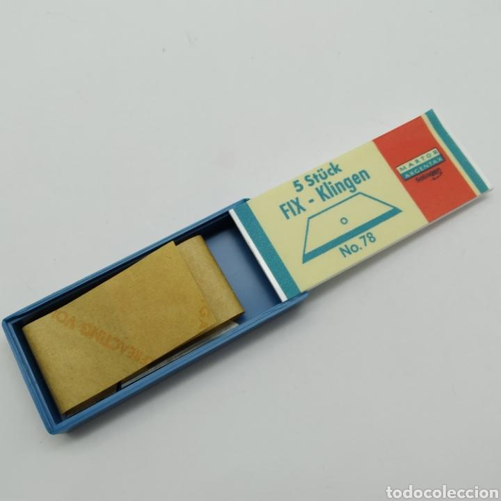 Hobbys: Antigua Caja con 5 cuchillas SOLINGEN Martor Argentax para trabajos de precisión, Modelismo - Foto 2 - 262613870