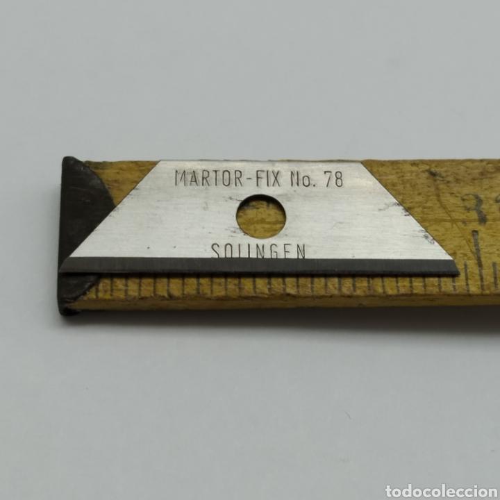 Hobbys: Antigua Caja con 5 cuchillas SOLINGEN Martor Argentax para trabajos de precisión, Modelismo - Foto 4 - 262613870