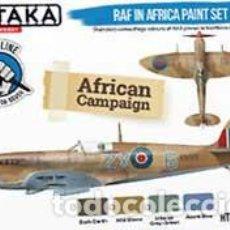 Hobbys: SET PINTURAS AVIACIÓN RAF EN EL NORTE DE AFRICA (ESPECIAL PINCEL) DE HATAKA HOBBY (4X17 ML). Lote 286969743