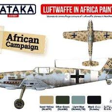Hobbys: SET PINTURAS LUFTWAFFE EN AFRICA DE LA SEGUNDA GUERRA MUNDIAL DE HATAKA HOBBY (4X17ML). Lote 286969898