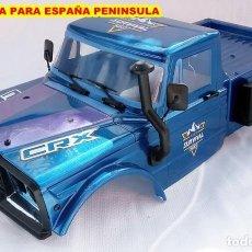 Hobbys: ESC 1/10 BATALLA 323 CRAWLER BODY CUERPO HOBBYTECH CRX SURVIVAL CON ACCESORIOS / AZUL METALIZADO. Lote 294824963