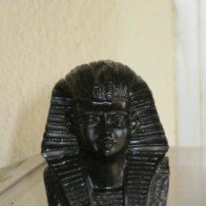 Hobbys: ROSTRO EGIPCIO , HECHO EN RESINA Y ACABADO EN NEGRO PULIDO . 7 CMS .. Lote 39962321