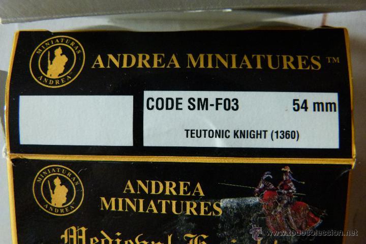 Hobbys: FIGURA ANDREA 54MM REF. SM-F03 CABALLERO TEUTONICO 1360 - Foto 2 - 45507220