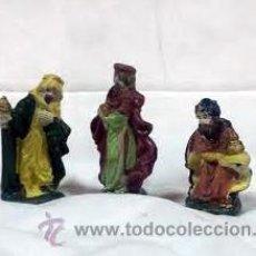 Hobbys: LOTE FIGURA FIGURITA DE BELEN EN CERÁMICA PINTADA. TRES REYES MAGOS, MEDIDAS APROX 9 CM. Lote 54840423