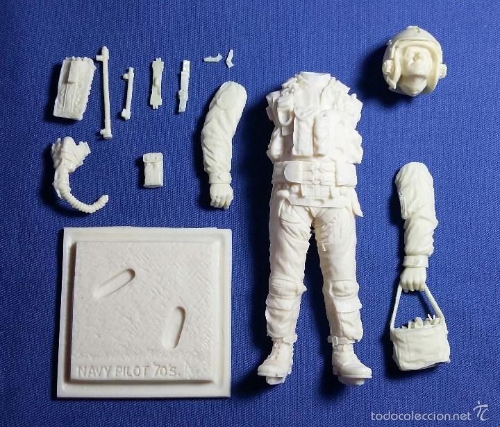 Hobbys: Figura de Piloto US Navy en resina. 90 mm - Foto 5 - 127795076