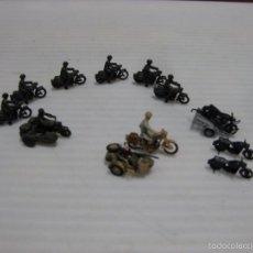 Hobbys: 7 MOTOCICLETAS CON CONDUCTOR, 3 SIN- UN SIDECAR CONDUCTOR,OTRO CON PASAJERO.REMOLQUE ETC... Lote 57960602