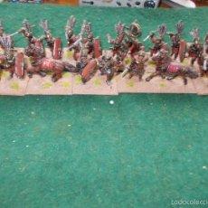 Hobbys: LOTE 21 FIGURAS DE ROMANOS ÉPOCA REPUBLICANA 28MM PLOMO PINTADO CON SUS BASES. Lote 58127700
