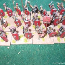 Hobbys: 24 FIGURAS DE PLOMO 25 MM PINTADAS ROMANOS REPUBLICANOS. Lote 58388589