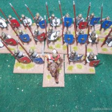 Hobbys: 26 FIGURAS DE CARTAGINESES PLOMO 25 MM PINTADOS EN BASES. Lote 58388912