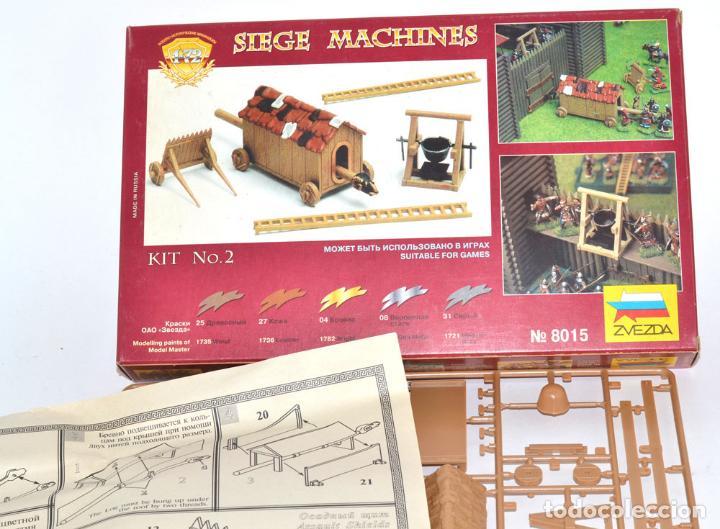 Hobbys: ZVEZDA 1/72 SIEGE MACHINES Nº 8015, COLADA COMPLETA POR ESTRENAR, EN SU CAJA. ITALERI - Foto 3 - 64230851