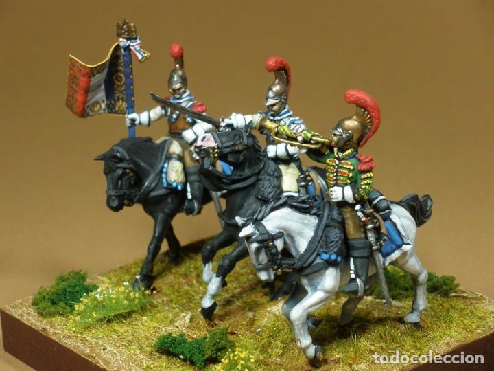 Hobbys: Diorama,2º Regimiento Carabineros franceses,812,Pintado a mano sobre plástico.Hispacolección,28 mm - Foto 2 - 64496843