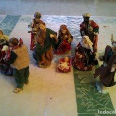 Hobbys: FIGURAS DE BELEN CON ROPAJES DE TELA. Lote 70024141