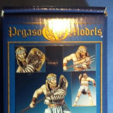 Hobbys: GLADIADOR EN METAL BLANCO DE LA MARCA PEGASO MODELS 54 MMM. Lote 107382335