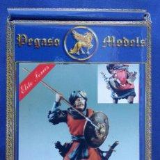 Hobbys: FIGURA GUERRERO MEDIEVAL DE PEGASO MODELS 54 MM EN METAL BLANCO. Lote 112750783