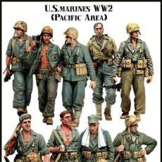 Hobbys: FIGURAS RESINA 1/35 - US MARINES WWII. Lote 125305482