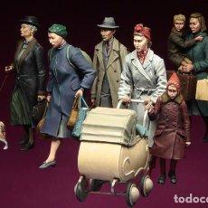 Hobbys: FIGURAS DE RESINA 1/35 - CIVILES WWII. Lote 125305039