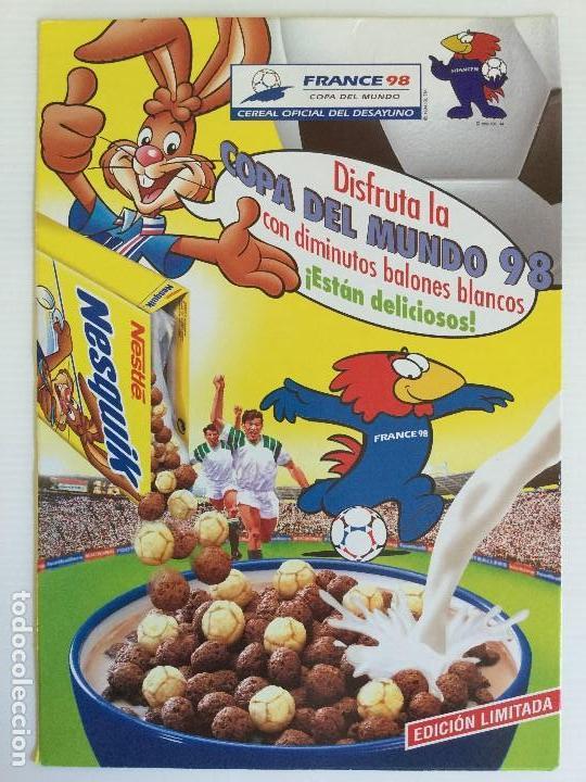 Hobbys: Lote 6 figuritas goleadoras – Francia 98 – Cereales Nesquik – Nestlé - Foto 4 - 129460891