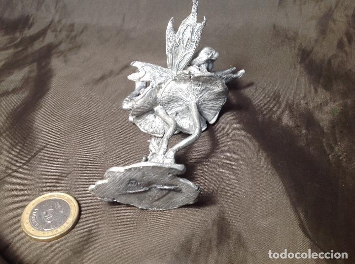 Hobbys: Hada de plomo sobre seta 9cm de alto - Foto 5 - 130445386
