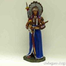 Hobbys: GRAN JEFE SIOUX - INDIO - SOLDADO PLOMO - 90 MM ALTAYA. Lote 149829654