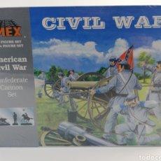 Hobbys: AMERICAN CIVIL WAR IMEX GUERRA CIVIL CAÑON SOLDADOS CONFEDERADOS ESCALA 1:32 54MM 780 PLASTICO NUEVO. Lote 144707932