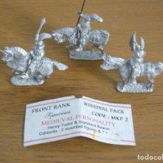 Hobbys: 28MM FRONT RANK METAL WAR OF THE ROSES HENRY TUDOR & STANDARD BEARER & TRUMPETER. Lote 37247346