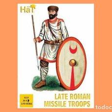 Hobbys: CAJA CON TROPAS DE ARMAS ARROJADIZAS TARDORROMANAS (S. IV-V D.C.) DE HAT A 1/72. Lote 154477358