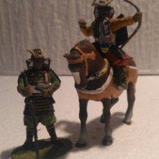 Hobbys: LOTE 2 FIGURAS JAPONESAS PLOMO 1/32 COLECCIÓN DEL PRADO. Lote 155920440