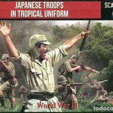 Hobbys: CAJA CON TROPAS JAPONESAS EN UNIFORME TROPICAL (2ª GUERRA MUNDIAL) DE STRELETS-R A 1/72. Lote 176708515