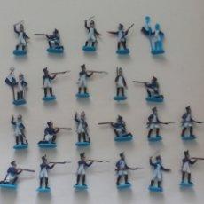 Hobbys: LOTE DE 22 FIGURAS PINTADAS MINIATURA, SOLDADOS, MILITARES FRANCESES, NAPOLEONICOS CREO QUE ITALERI.. Lote 177521953